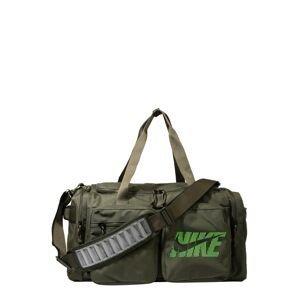 NIKE Sportovní taška  olivová / světle zelená