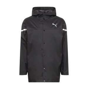 PUMA Funkční bunda  černá / stříbrně šedá