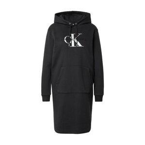 Calvin Klein Jeans Šaty  černá / stříbrná
