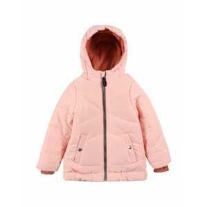 ESPRIT Zimní bunda  pastelově růžová / tmavě oranžová