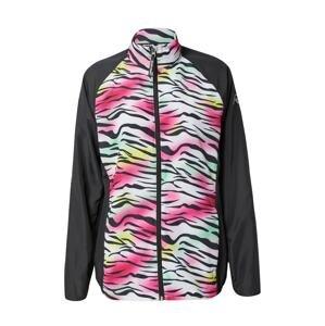 Rukka Sportovní bunda 'MAILA'  černá / bílá / žlutá / nefritová / pink