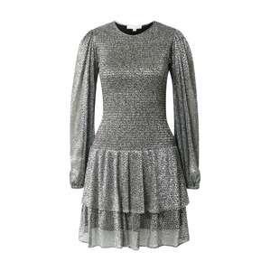 MICHAEL Michael Kors Koktejlové šaty  černá / stříbrná