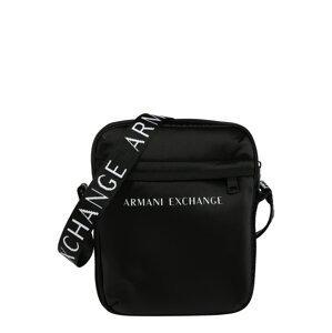 ARMANI EXCHANGE Taška přes rameno  černá / bílá