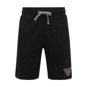 Emporio Armani Kalhoty  černá
