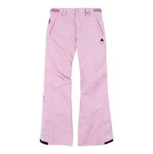 BURTON Outdoorové kalhoty  světle růžová / černá
