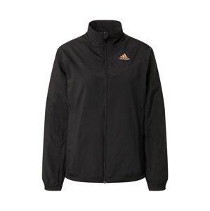ADIDAS PERFORMANCE Sportovní bunda  černá / růžová