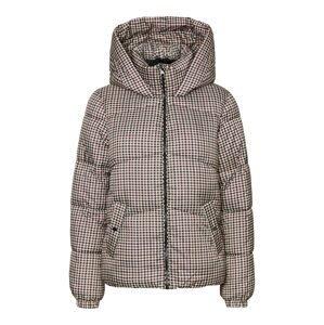 VERO MODA Přechodná bunda 'Uppsala'  burgundská červeň / béžová / tmavě šedá / černá