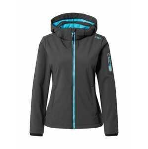 CMP Outdoorová bunda  antracitová / aqua modrá