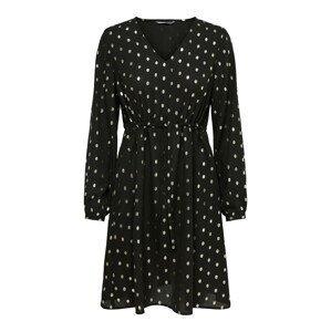ONLY Šaty 'Eloisa'  černá / bílý melír