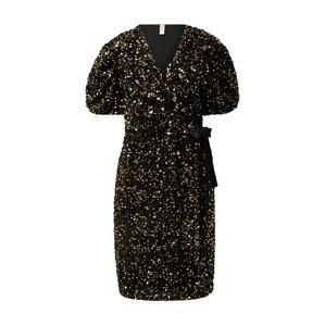 Y.A.S Koktejlové šaty  černá / zlatá