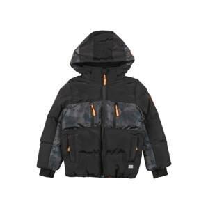 Cars Jeans Zimní bunda 'FRASH'  černá / petrolejová / kámen / kouřově šedá / světle šedá / svítivě oranžová