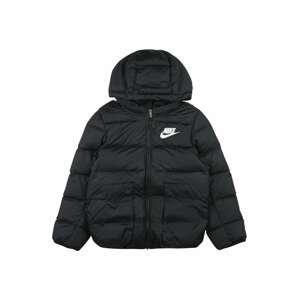 Nike Sportswear Přechodná bunda  černá / bílá