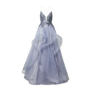 Unique Společenské šaty  chladná modrá