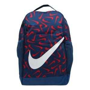 Nike Sportswear Batoh 'Brasilia'  modrá / světle červená / bílá