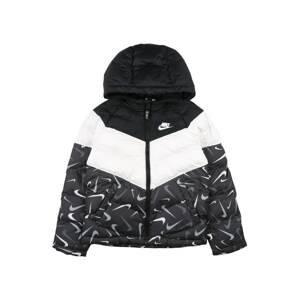 Nike Sportswear Přechodná bunda  černá / bílá / tmavě šedá