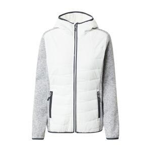 CMP Outdoorová bunda  šedá / bílá / černá