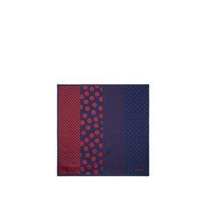 Boggi Milano Kapesníček  námořnická modř / krvavě červená