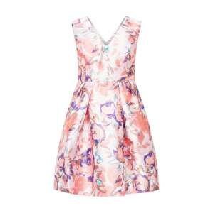 Chi Chi Curve Koktejlové šaty  světle růžová / růže / aqua modrá / královská modrá