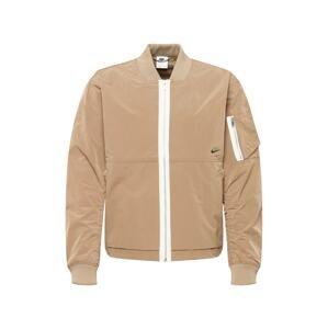 Nike Sportswear Přechodná bunda  světle hnědá / bílá