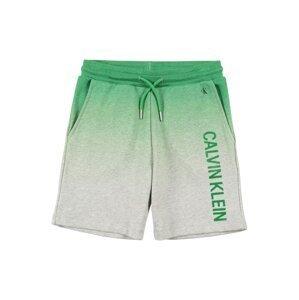 Calvin Klein Jeans Kalhoty  zelený melír / šedý melír