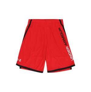 UNDER ARMOUR Sportovní kalhoty 'Stunt 3.0'  červená / černá