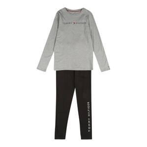 Tommy Hilfiger Underwear Pyžamo  černá / šedý melír / marine modrá / bílá / červená