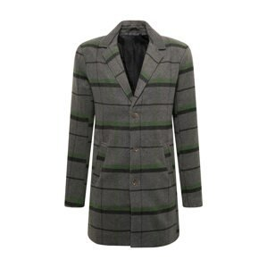 !Solid Přechodný kabát 'SDTave'  černá / šedý melír / zelená