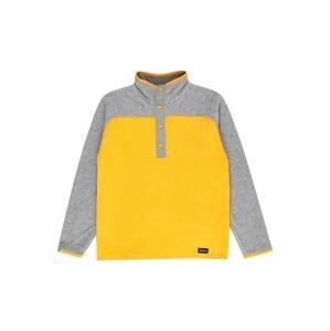BURTON Outdoorová bunda  šedý melír / limone