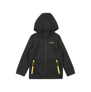 ICEPEAK Fleecová mikina 'KRUM'  černá / žlutá