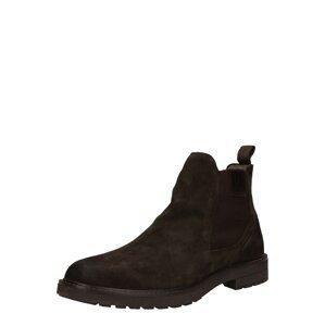 Pius Gabor Chelsea boty  tmavě hnědá