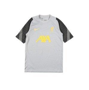 NIKE Funkční tričko  šedá / tmavě šedá / žlutá