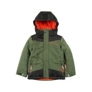 TROLLKIDS Outdoorová bunda  zelená / černá / oranžová