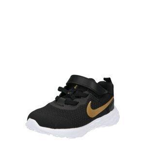 NIKE Sportovní boty 'Revolution'  černá / zlatá