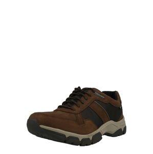 Pius Gabor Sportovní šněrovací boty  tmavě hnědá / černá