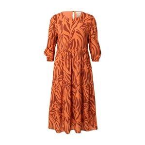 Rich & Royal Šaty  oranžová / rezavě hnědá