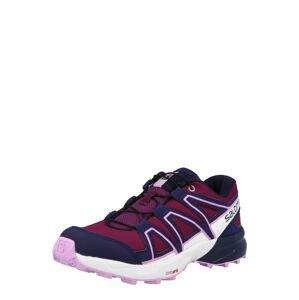 SALOMON Sportovní boty  vínově červená / tmavě fialová / bílá