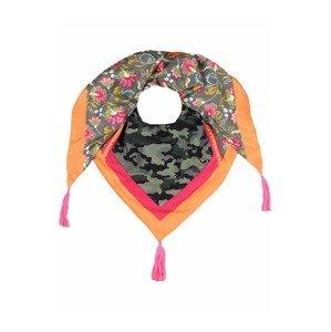 Zwillingsherz Látková rouška  khaki / oranžová / pink / černá / tmavě šedá