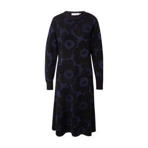 Marimekko Úpletové šaty  námořnická modř / černá