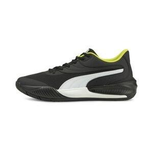 PUMA Sportovní boty  černá / bílá
