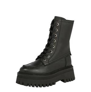 BRONX Šněrovací boty  černá