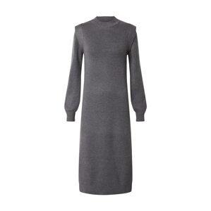 b.young Úpletové šaty  šedá