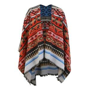 TAIFUN Pláštěnka  kouřově modrá / červená / černá / světle hnědá / bílá