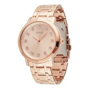 GUESS Analogové hodinky  růžově zlatá