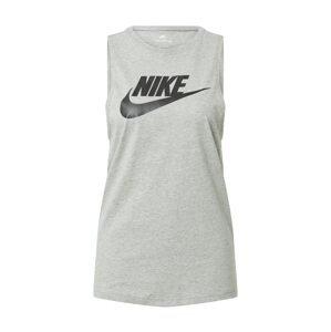 Nike Sportswear Top  šedý melír / černá