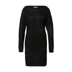 Missguided Úpletové šaty  černá