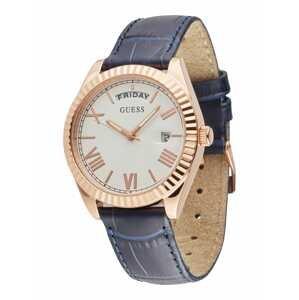 GUESS Analogové hodinky  růžově zlatá / tmavě modrá / bílá