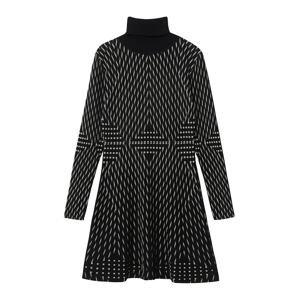 Desigual Úpletové šaty 'CAMERON'  černá / bílá
