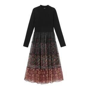 Desigual Šaty  černá / mix barev