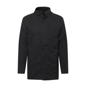 BLEND Přechodný kabát  šedá / tmavě šedá