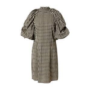 Copenhagen Muse Šaty 'NIL'  černá / olivová / krémová / šedý melír